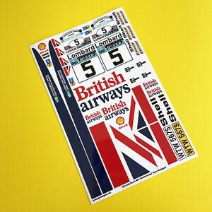 RC 10th 1:10 scale 'British Airways' ESCORT MK2 1977 RAC RALLY stickers decals