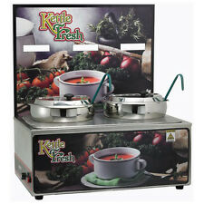 "Winco Esm-27Kf, Soup Merchandiser with two 7-Quart Insets, ""Kettle Fresh�"