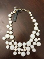 New Women J.Crew Frosted Crystal Collar Necklace, White