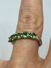 10K Solid Gold 1.43 CT Green Apatite Ring SZ 7