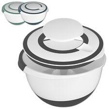 5L R��hrschüssel mit Deckel Teigschüssel Schüssel Rührdeckel Spritzschutz Plastik