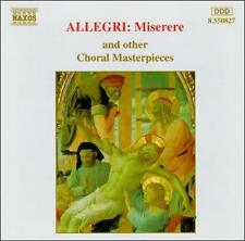 Allegri: Miserere and Other Choral Masterpieces CD NEW