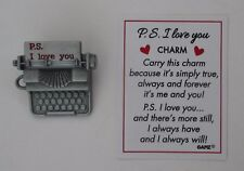 v P.S. I love you Typewriter Charm carry or wear always forever me & you Ganz