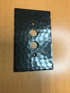Push Button On/Off Switch Single Gang Switch Plate Hammered Copper Bronze Finish
