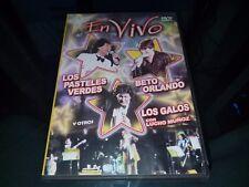 DVD EN VIVO LOS PASTELES VERDES BETO ORLANDO LOS GALOS