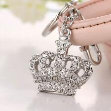rhinestone tiara crown queen bag purse charm keychain princess gift pendant