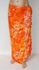 NEW SARONG DOLPHIN ORANGE TIE DYE WRAP SKIRT / sa036