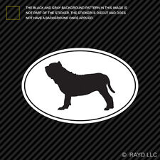 Neapolitan Mastiff Euro Oval Sticker Die Cut Decal Self Adhesive Vinyl dog