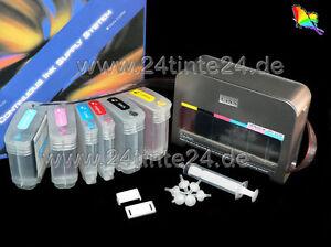 Elegantes CISS 860ml HP Designjet 130 90 30 C9425 C9427 C9424 C9428 C9429 C5016