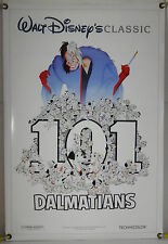 101 DALMATIANS DS ROLLED ORIG 1SH MOVIE POSTER DISNEY ANIMATION RR91 (1961)