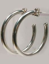 """HiQuality USA Sterling 32mm Post Type Hoops Ancient Egyptian """"Bones of the Gods"""""""
