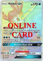 Keldeo GX Hyper Rare Unified Minds Pokémon TCG Online PTCGO CARD SENT FAST!