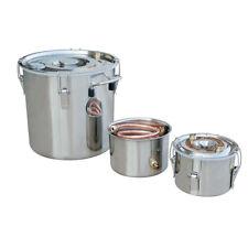 3 Pots 5Gal Alcohol Distiller Moonshine Still Boiler Stainless Steel Copper New