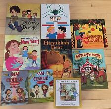 NEW Lot 9 Childrens Jewish picture books lot Holidays PJ Library Hanukkah Purim
