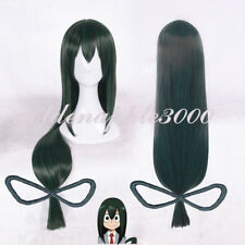 "40""100cm My Boku No Hero Academia Tsuyu Asui Dark Green Cosplay Wig Party Wigs"