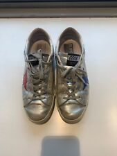 Women's Golden Goose Silver Sneakers, Size 40