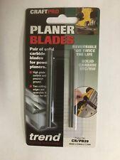 Trend Planer Blade Set x 2  82mm fits Makita Dewalt Bosch Hitachi - CR/PB29