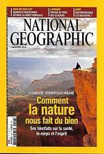 NATIONAL GEOGRAPHIC N°196 JANVIER 2016 BIENFAITS DE LA NATURE/CAOUTCHOUC/LAPONIE