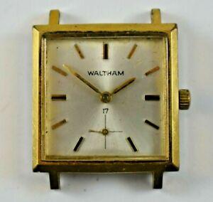 Vintage Waltham Square Case Hand Wind Mechanic 17J Wrist Watch lot.p