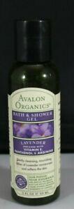 Avalon Organics Bath And Shower Gel Lavender 2 fl oz
