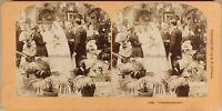 Mariage Sera Da Reception 1897 Foto Stereo Vintage Albumina