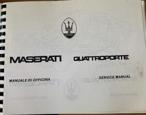 Vintage Maserati Quattroporte Service Manual