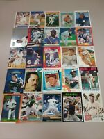 HALL OF FAME Baseball Card Lot 1977-2020 WILLIE MAYS TOM SEAVER CHIPPER JONES +