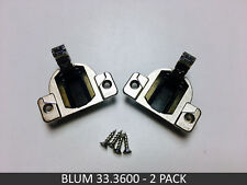 2 Pack Blum COMPACT 33 Screw-on Hinge with Screws - 33.3600 - FREE SHIPPING