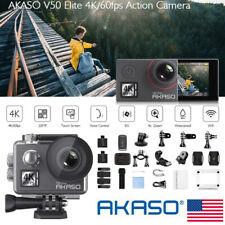 AKASO V50 Elite 4K60fps WiFi Action Camera 8X Zoom Sports Camera 40M Waterproof