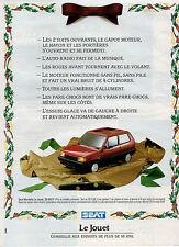 Publicité Advertising 1988  SEAT MARBELLA  Le Jouet  ...