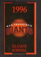 San Francisco Giants--1996 Pocket Schedule--Hitachi