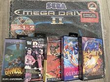 Sega Mega Drive II Spielekonsole - Schwarz (PAL) OVP + 6 Spiele