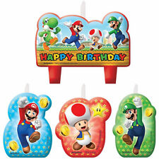 SUPER MARIO BROS BROTHERS PARTY BIRTHDAY CANDLE SET OF 4 CAKE CANDLES DECORATION