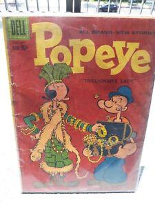 Dell Comics: Popeye #49 - Silver Age 1960