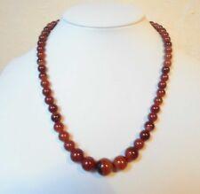 """Edelsteinkette Rot Achat Collier 42cm Halskette 7 - 12 mm Perlen  """"True Gems"""""""