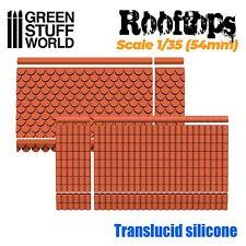 MOULES en Silicone - Toits 1/35 (54mm) - modélisme miniature résine maison 40k