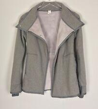 IVIVVA Lululemon Girl's Big Business Wrap Jacket Fleece Lines Sz 12 Pockets Gray