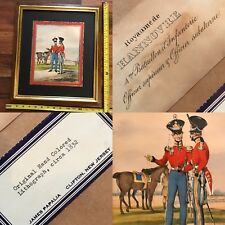 VTG 1832 Hand Painted Lithograph James Papalia Hanover Germany Soldiers Infantry