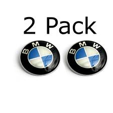 2 Pack BMW Roundel 82MM OEM SIZE HOOD ORNAMENT EMBLEM BADGE 2 PIN E46 E60