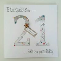Large Personalised 21st Birthday Card Grandson Son Nephew Godson Brother Any Age