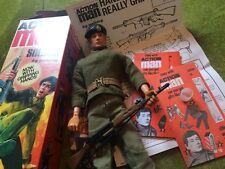 Genuine Retrò Vintage Action MAN ANNI 1970 ACTION MAN con scatola di riproduzione