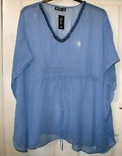 NEW 💖 👀💖 QUALITY BANKE B OVER SIZED BLUE KAFTAN TOP SIZE 14 16 18 20  # 997