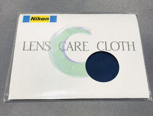 "Nikon Original Micro Fiber Lens Cleaning Cloth 5 X 5"" - Blue - Lot Of 4 NEW"