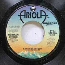 Rock 45 Herman Brood - Saturday Night / Back (In Y'R Love) On Ariola Records Ame