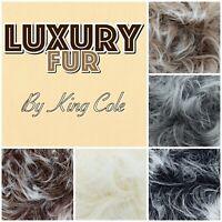 King Cole Luxe Luxury Fur Fluffy Eyelash Teddy Bear Knitting Yarn 100g Ball