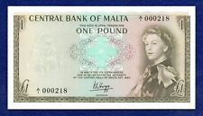 More details for malta, 1969 one pound, £1 banknote, unc & very low serial no (ref. b1031)