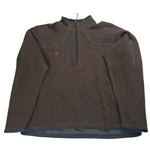 Mountain Hardwear Wool Blend 1/2 Zip Sweater Mens L Brown USA Pullover Outdoor