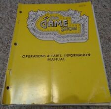 Bally Game Show Operations/Service/Repair Manual Pinball Game