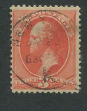 1887 US Stamp #214 Used F/VF New York Cancel Catalogue Value $50