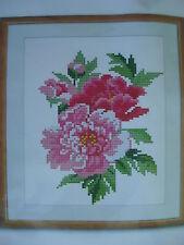 Cross Stitch Kit - 16 cuentan Aida-Diseño Floral 20 X 26 Cm-Nuevo